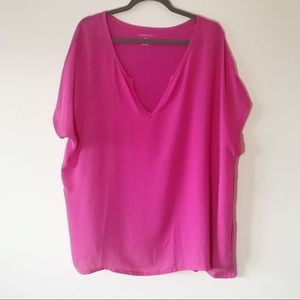 Lane Bryant Hot Pink Short Sleeve Top Size 22/24 W